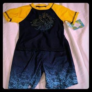 Nursery Rhyme 24M UPF 50 SPF rashguard set